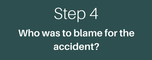 WHO WAS TO BLAME FOR THE ACCIDENT
