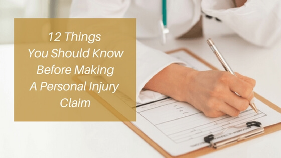 12 Things to Know Before Making a personal Injury Claim