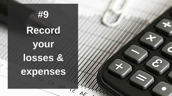 Keep a record of your losses and expenses in a personal injury claim