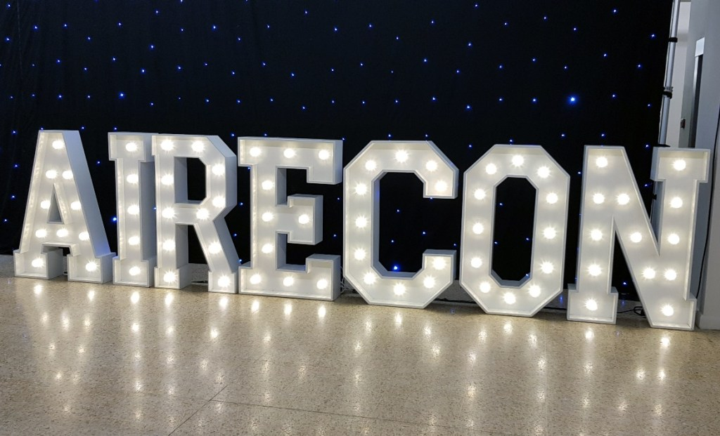 The AireCon sign - AireCon 2019 by BeckyBecky Blogs