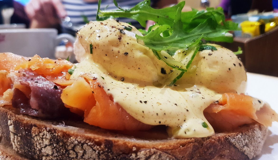 Eggs royale at Silverberry Deli - April 2018 Monthly Recap by BeckyBecky Blogs
