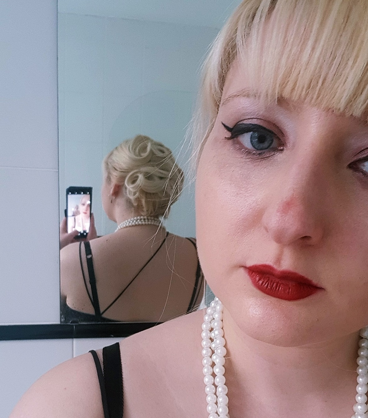 Hair style for Katherine's hen do - April 2018 Monthly Recap by BeckyBecky Blogs