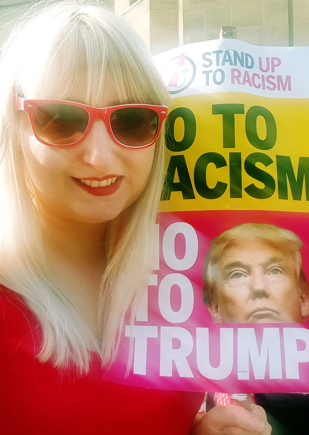 Trump protest - July and August 2018 Monthly Recap by BeckyBecky Blogs