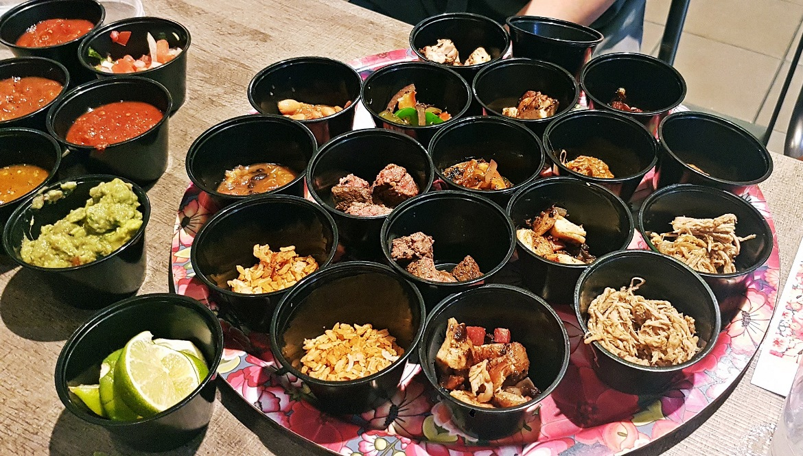 All the different tortilla fillings - Burrito Masterclass with Barburrito, review by BeckyBecky Blogs