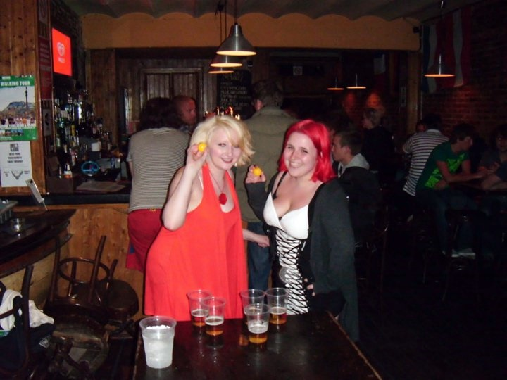 Beer pong at Travel Bar - Reminiscing about Barcelona by BeckyBecky Blogs