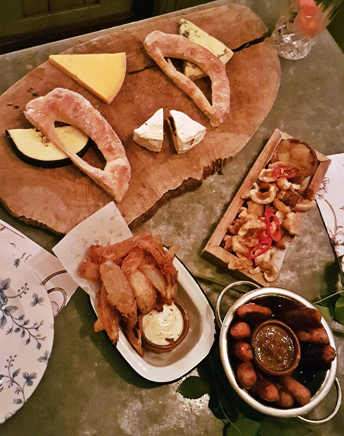 An array of food - Gin Masterclass at the Botanist Leeds, review by BeckyBecky Blogs
