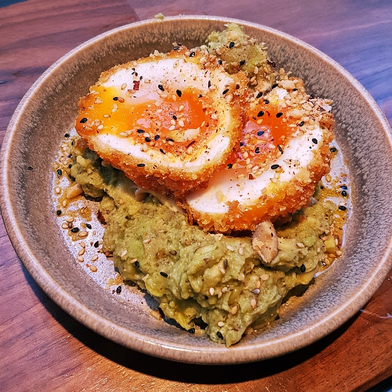Cornflake duck egg with avocado - Breakfast For Dinner at Laynes Espresso, LIF review by BeckyBecky Blogs
