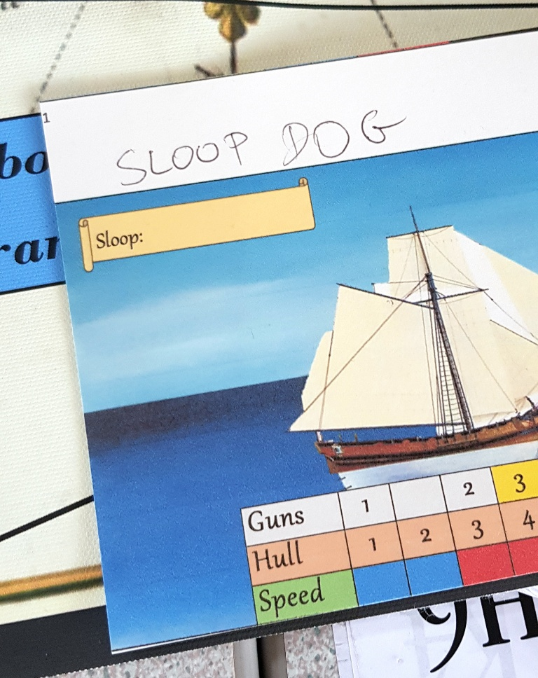 My ship, Sloop Dog - Buccaneer Megagame After Action Report by BeckyBecky Blogs