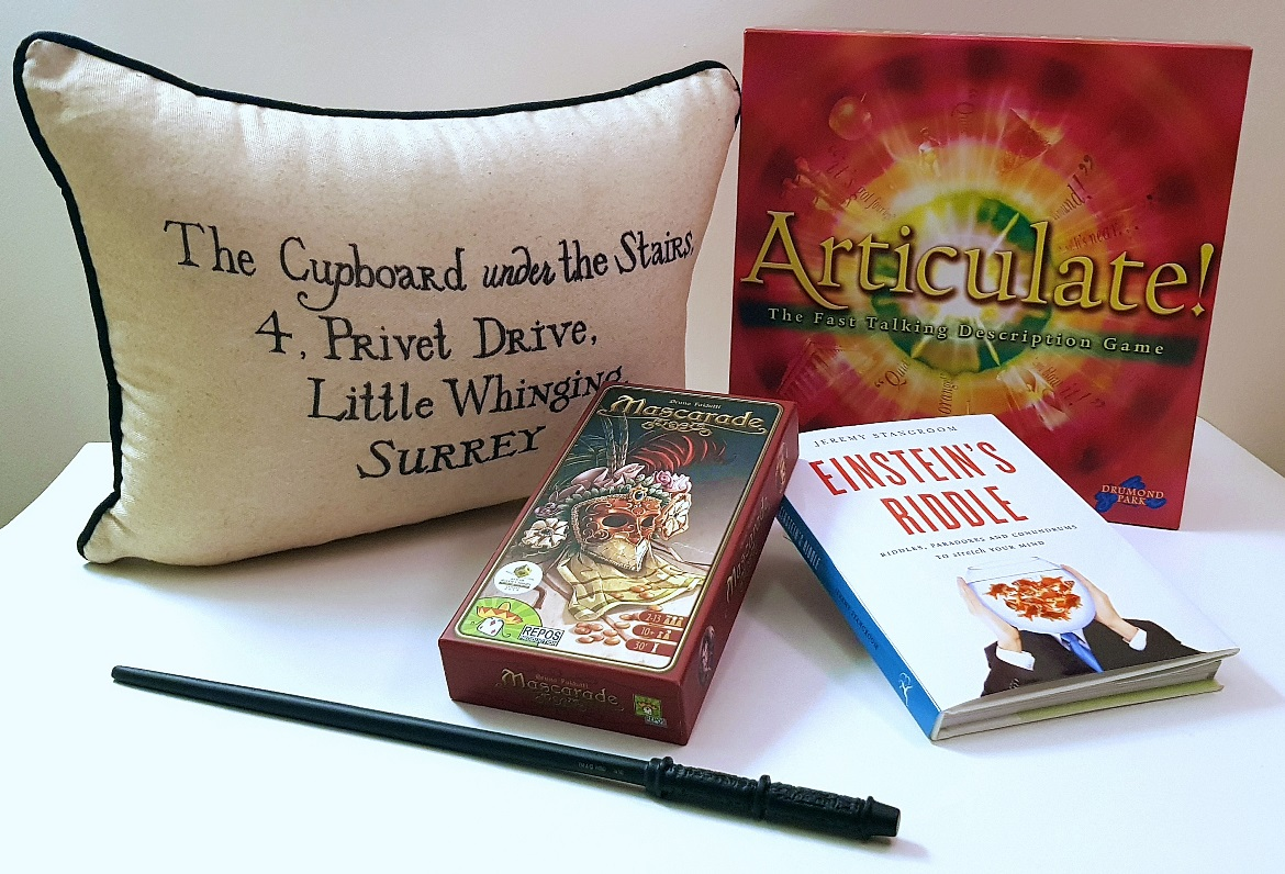 Articulate, Mascarade, Einstein's Riddle, Harry Potter Riddle, Wand - Christmas Presents Round Up by BeckyBecky Blogs