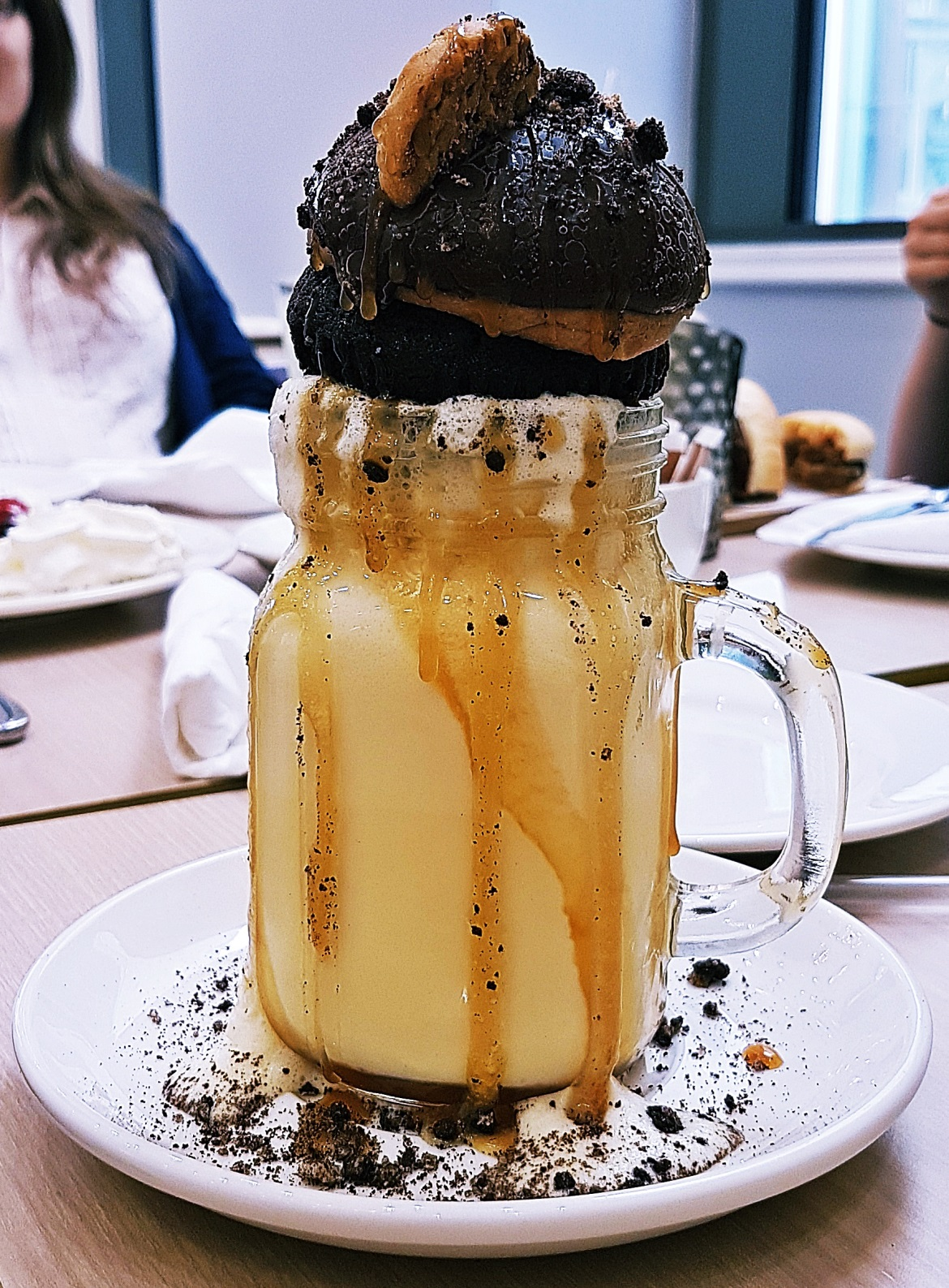 Tough Cookie Freakshake - Creams British Luxury Leeds Restaurant Review by BeckyBecky Blogs
