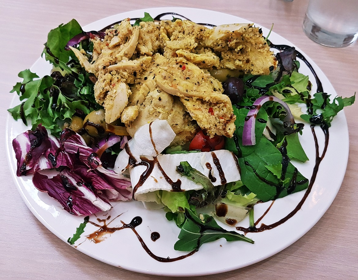 Lemon and Pepper Chicken Salad - Creams British Luxury Leeds Restaurant Review by BeckyBecky Blogs