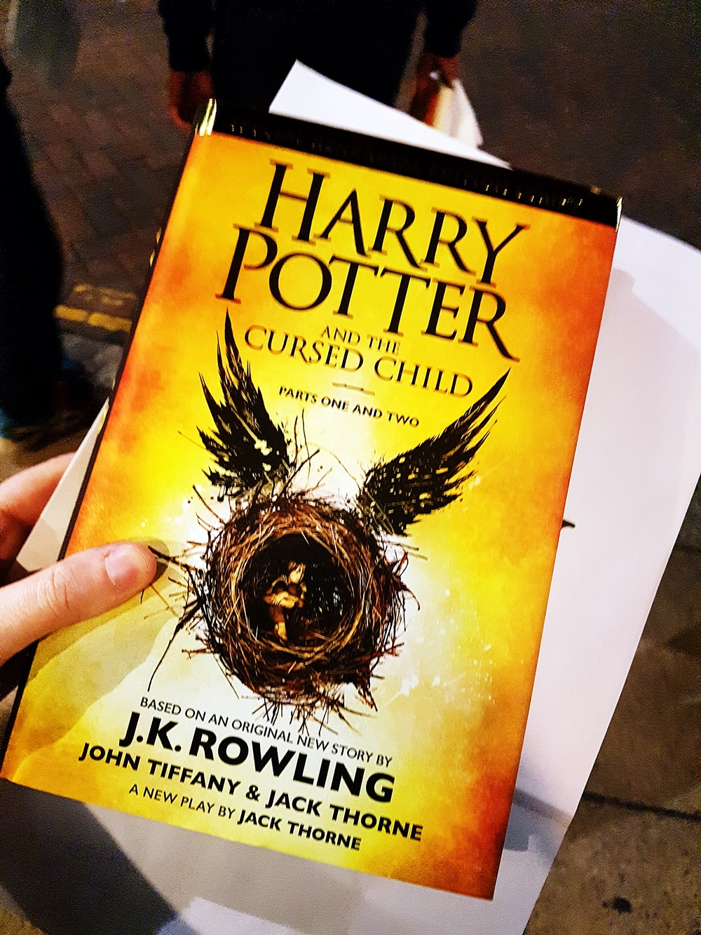 The new Harry Potter book at Cursed Child Book Launch at Waterstones Leeds