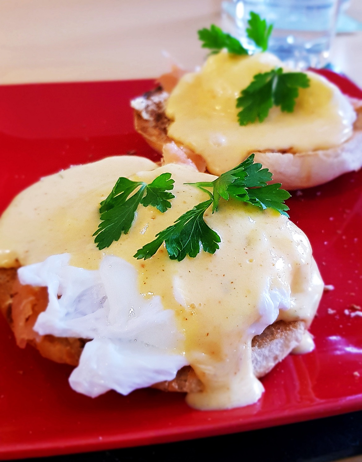 Eggs royale for Tim's birthday - December Monthly Recap by BeckyBecky Blogs