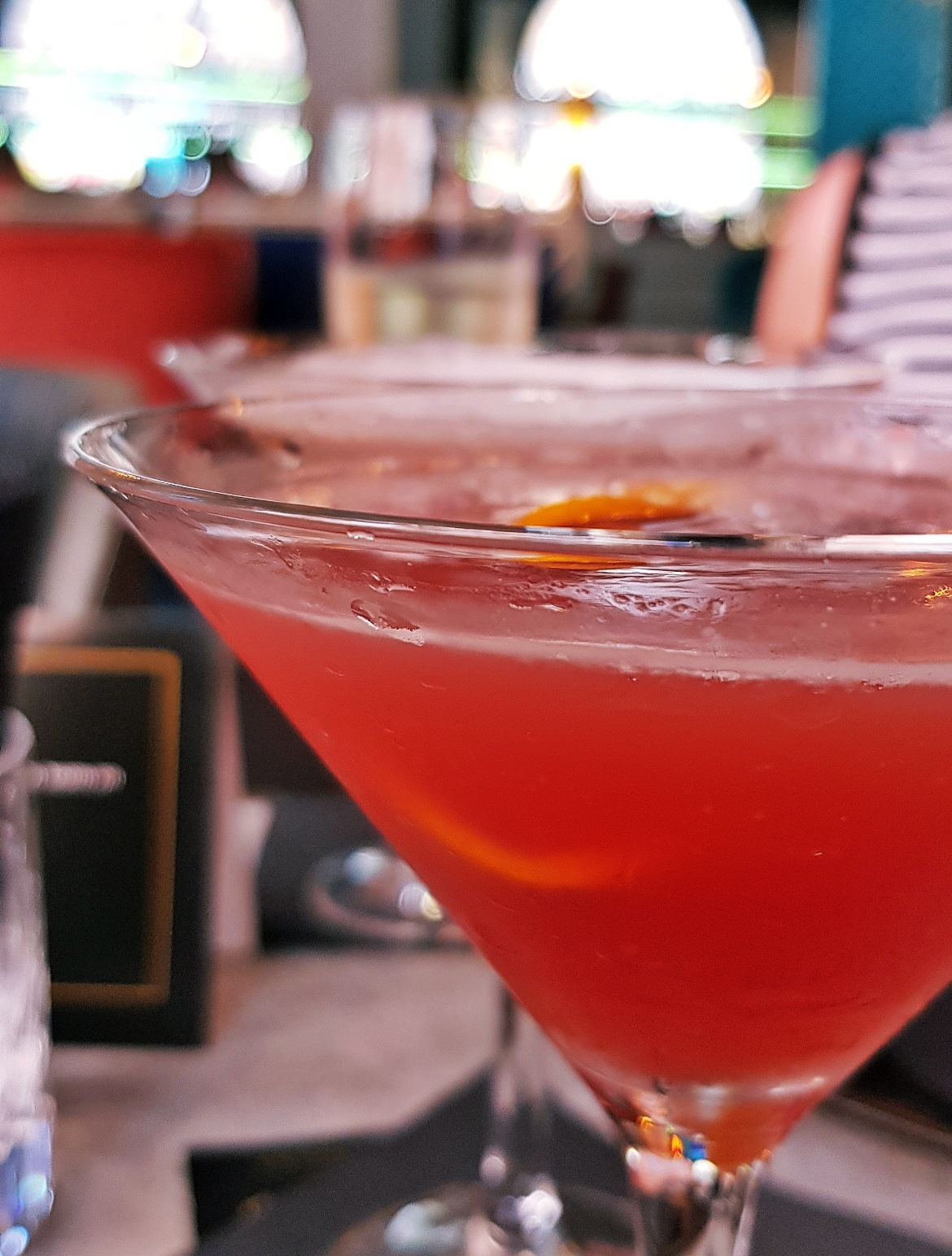 Blood Orange and Vanilla Martini and French Martini - Bottomless Brunch at Dirty Martini, review by BeckyBecky Blogs