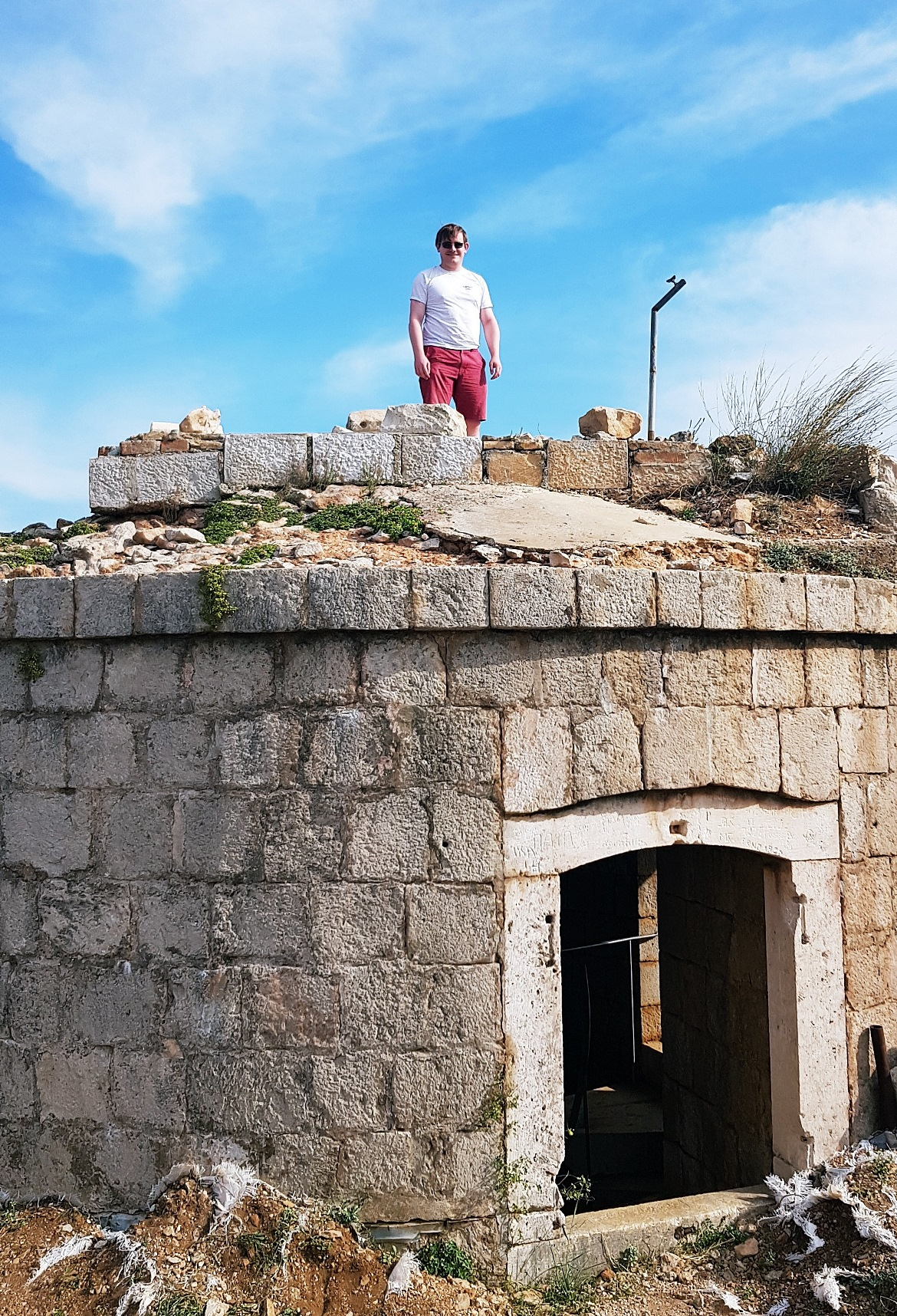 Tim on top of the Lokrum Fort - Sightseeing in Dubrovnik, Croatia - Top Travel Tips by BeckyBecky Blogs