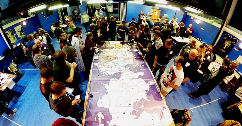 The map at Everybody Dies in London 2016 - Megagames I'm Excited For in 2018 by BeckyBecky Blogs