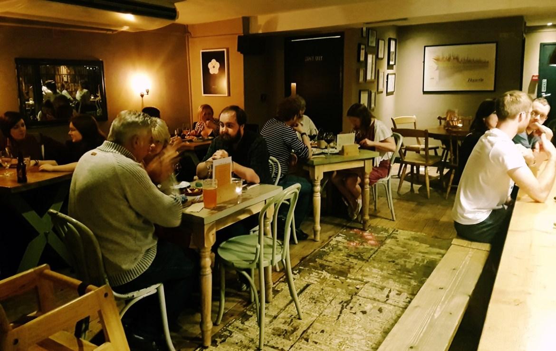 Friends of Ham interior for restaurant review