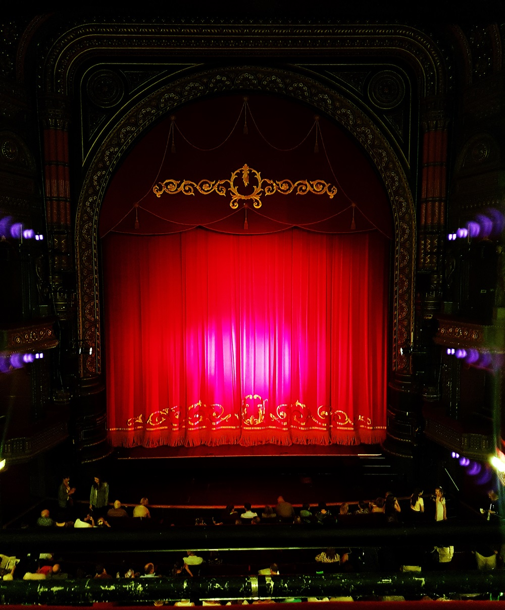 Stage curtain at The Grand Theatre Leeds