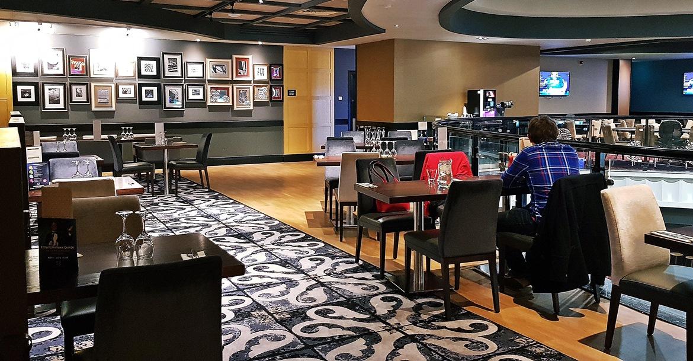 The restaurant overlooking the floor - Grosvenor Casino Leeds review by BeckyBecky Blogs