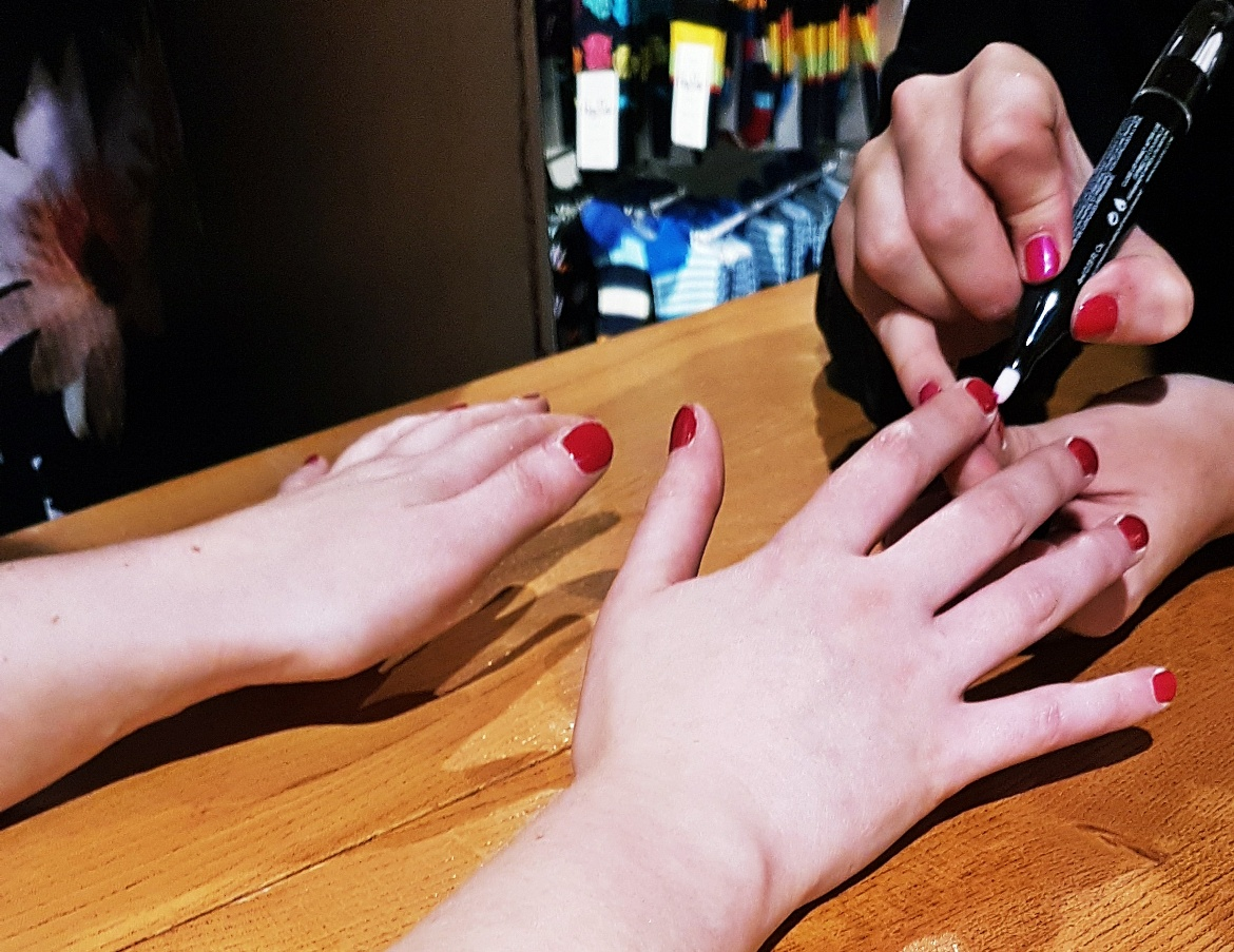 Getting my nails done by Nails Inc - Tune in with Joy the Store, Leeds shop review by BeckyBecky Blogs