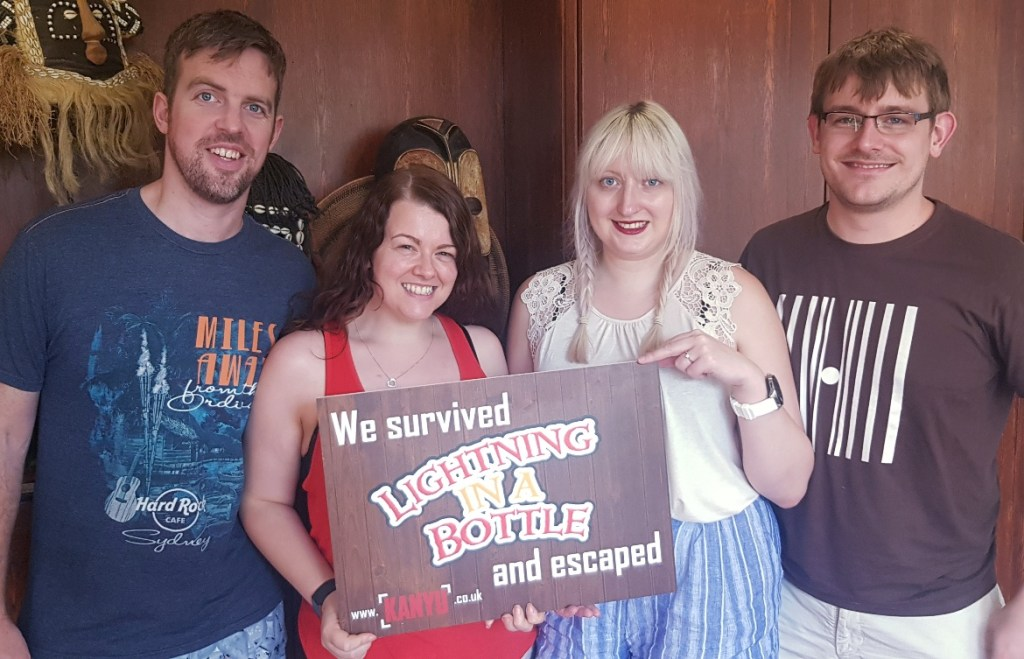 Success photo - Lightning in a Bottle by Kanyu Escape, Leeds escape room review by BeckyBecky Blogs