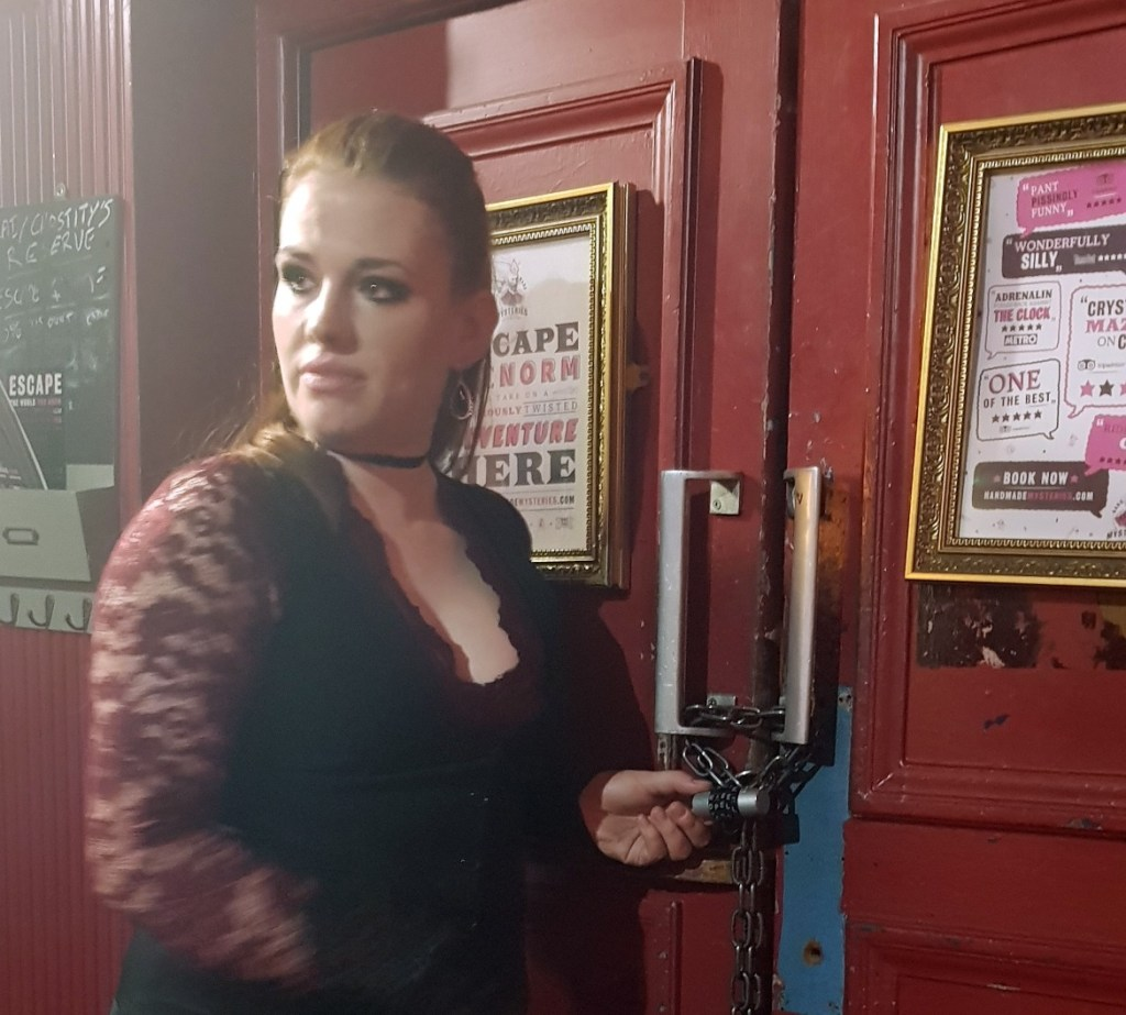 Gabriel - Lady Chastity's Reserve by Handmade Mysteries, London escape room review by BeckyBecky Blogs