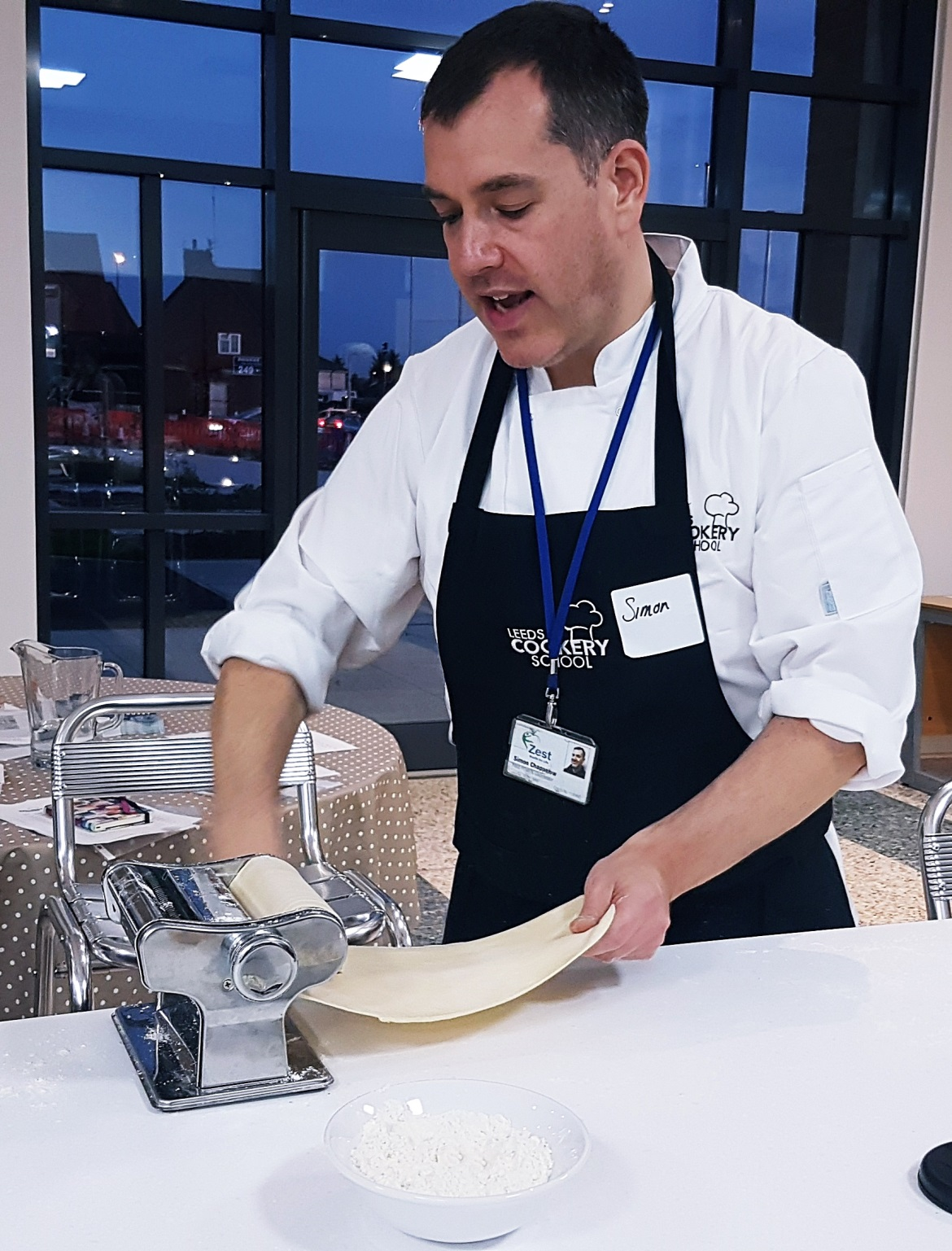 Rolling out pasta dough - Leeds Cookery School review by BeckyBecky Blogs