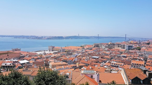 Lisbon Panorama from Castelo de Sao Jorge - Things to Do in Lisbon, Portgual, travel blog by BeckyBecky Blogs