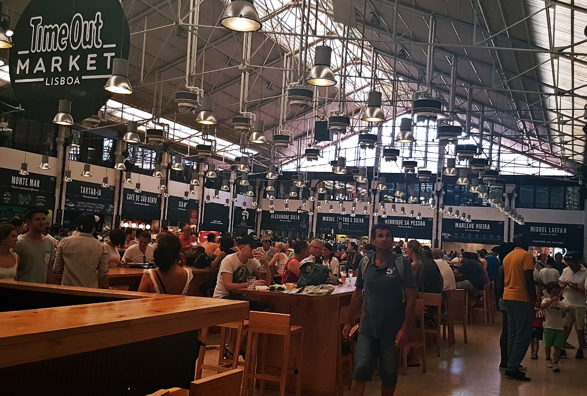 Food hall at Time Out Market - Food and Drink in Lisbon, review by BeckyBecky Blogs