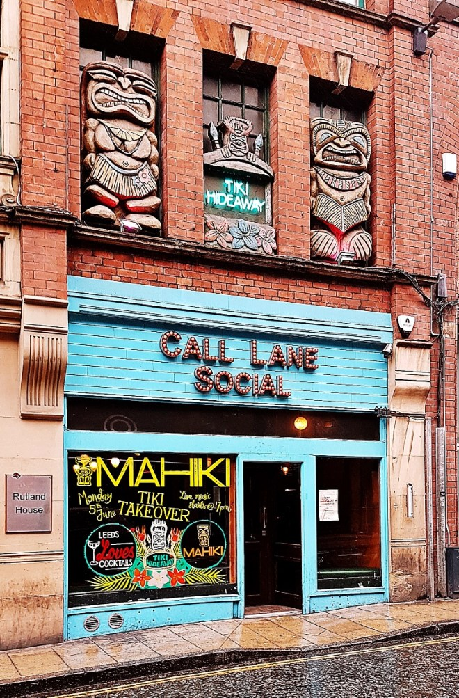 Exterior of Call Lane Social and Tiki Hideaway - Review by BeckyBecky Blogs of Mahiki Tiki Takecover at Tiki Hideaway with Leeds Loves Cocktails
