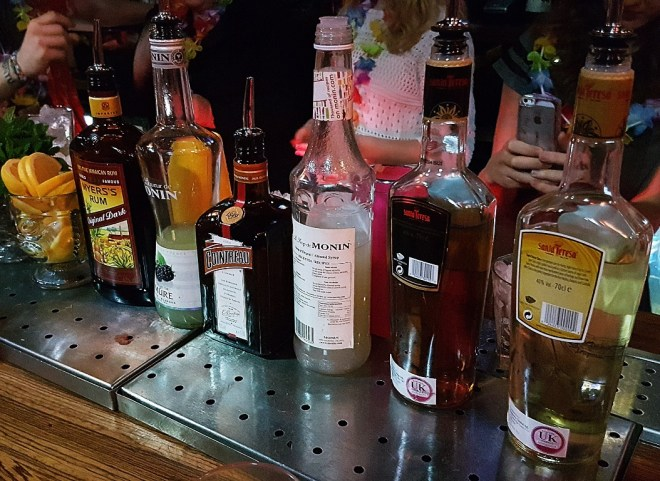 Ingredients for my Mai Tai - Review by BeckyBecky Blogs of Mahiki Tiki Takecover at Tiki Hideaway with Leeds Loves Cocktails