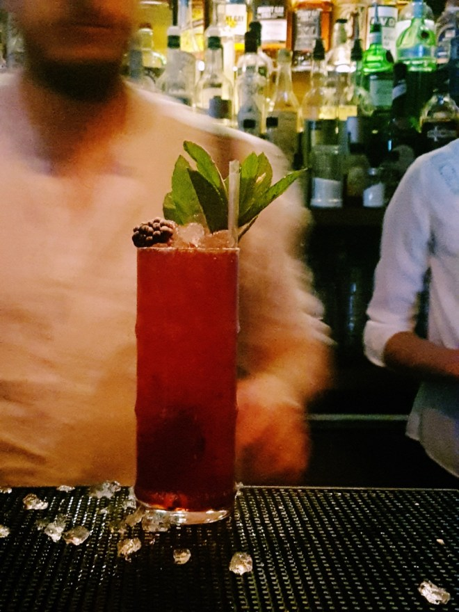 Berry Swizzle cocktail at Maven prohibition bar in Leeds