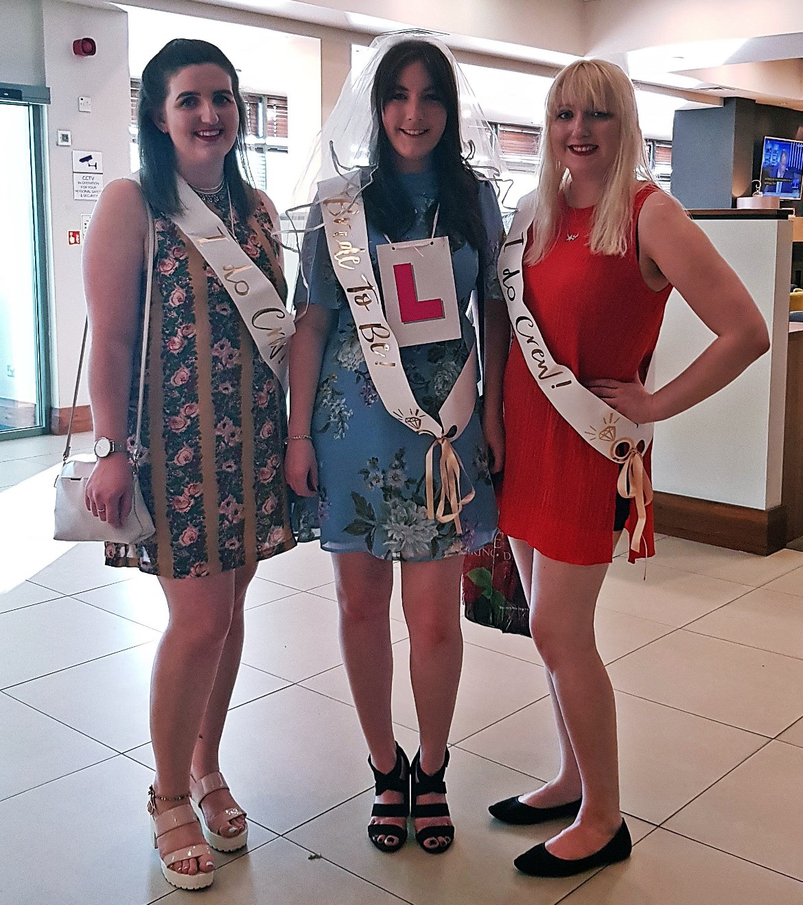 Ready to go on Keeleigh's hen do - How to throw a kickass hen party by BeckyBecky Blogs