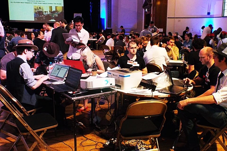 The epic press team at Watch The Skies 3 megagame - Press at Megagames by BeckyBecky Blogs|