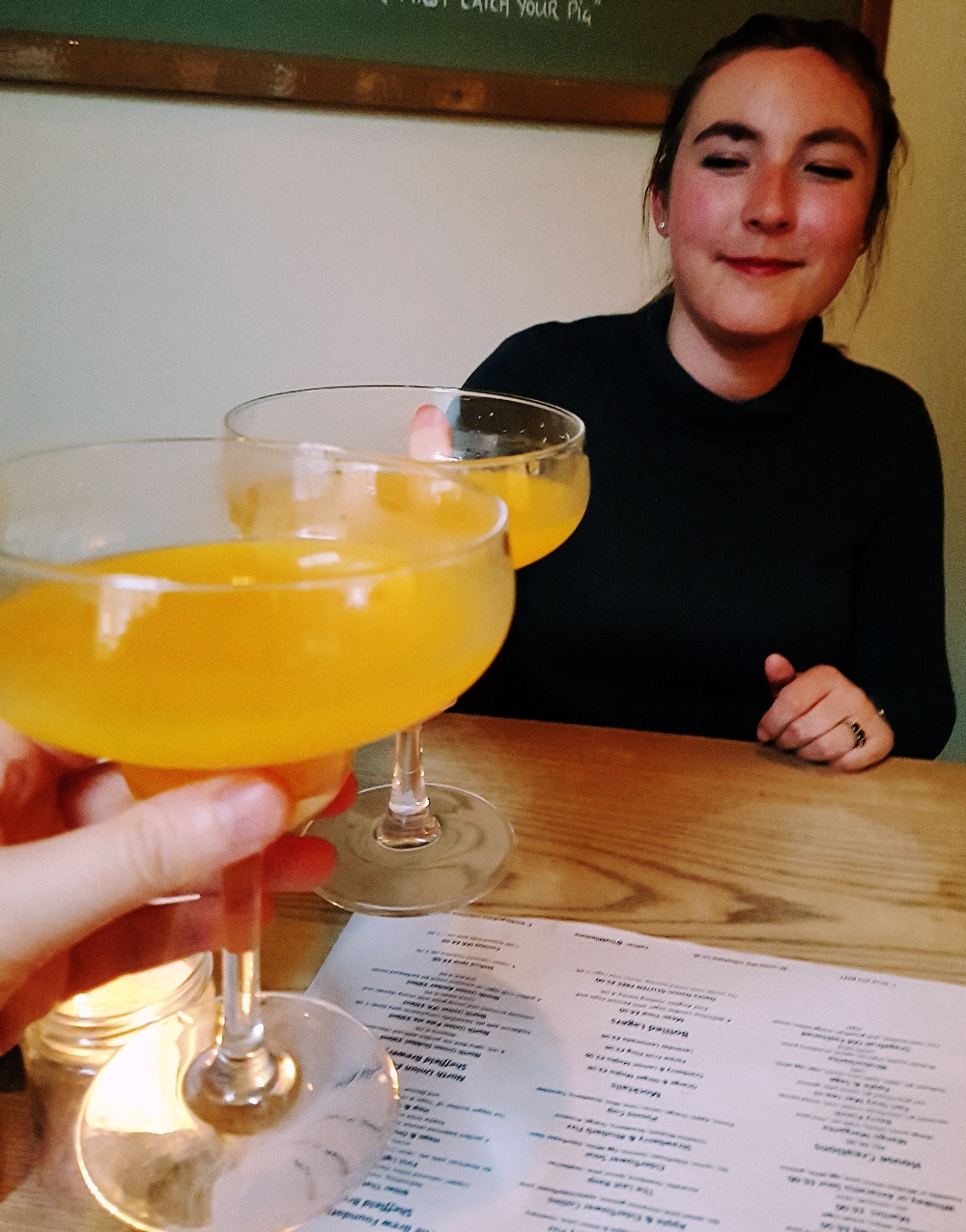 Mango margaritas at the Milestone Sheffield