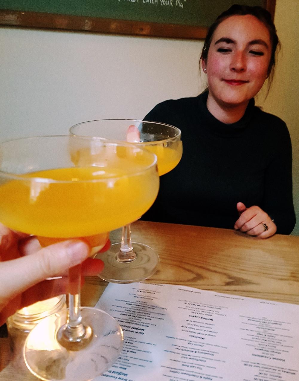 Mango margaritas at the Milestone Sheffield