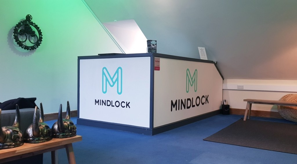 Mindlock lobby - V90 by Mindlock, York escape room review by BeckyBecky Blogs