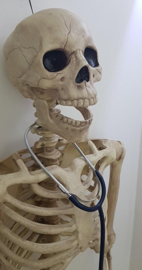A skeleton - V90 by Mindlock, York escape room review by BeckyBecky Blogs