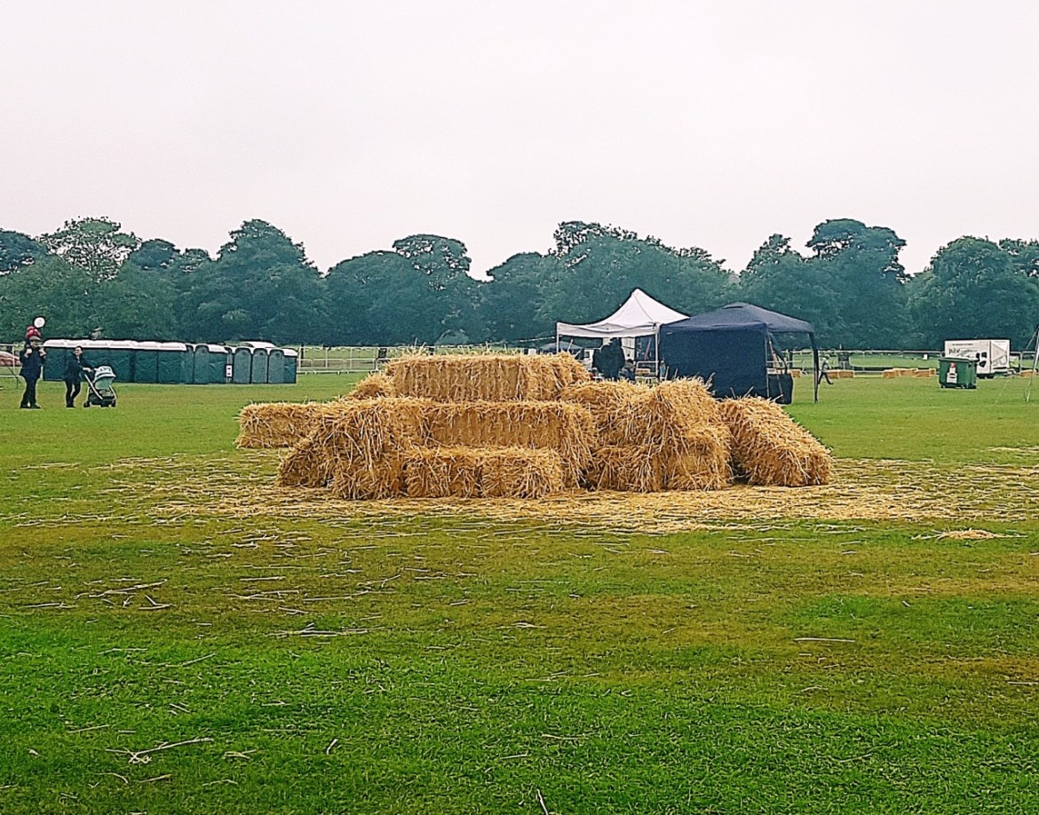 Hay bales at North Leeds Food Festival