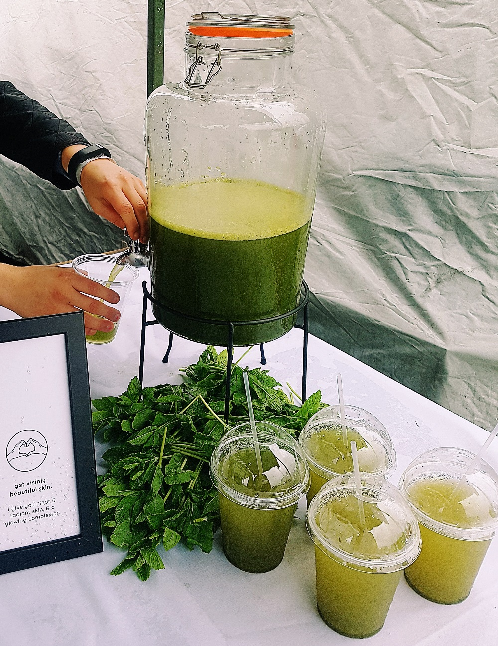Matcha Tea at North Leeds Food Festival