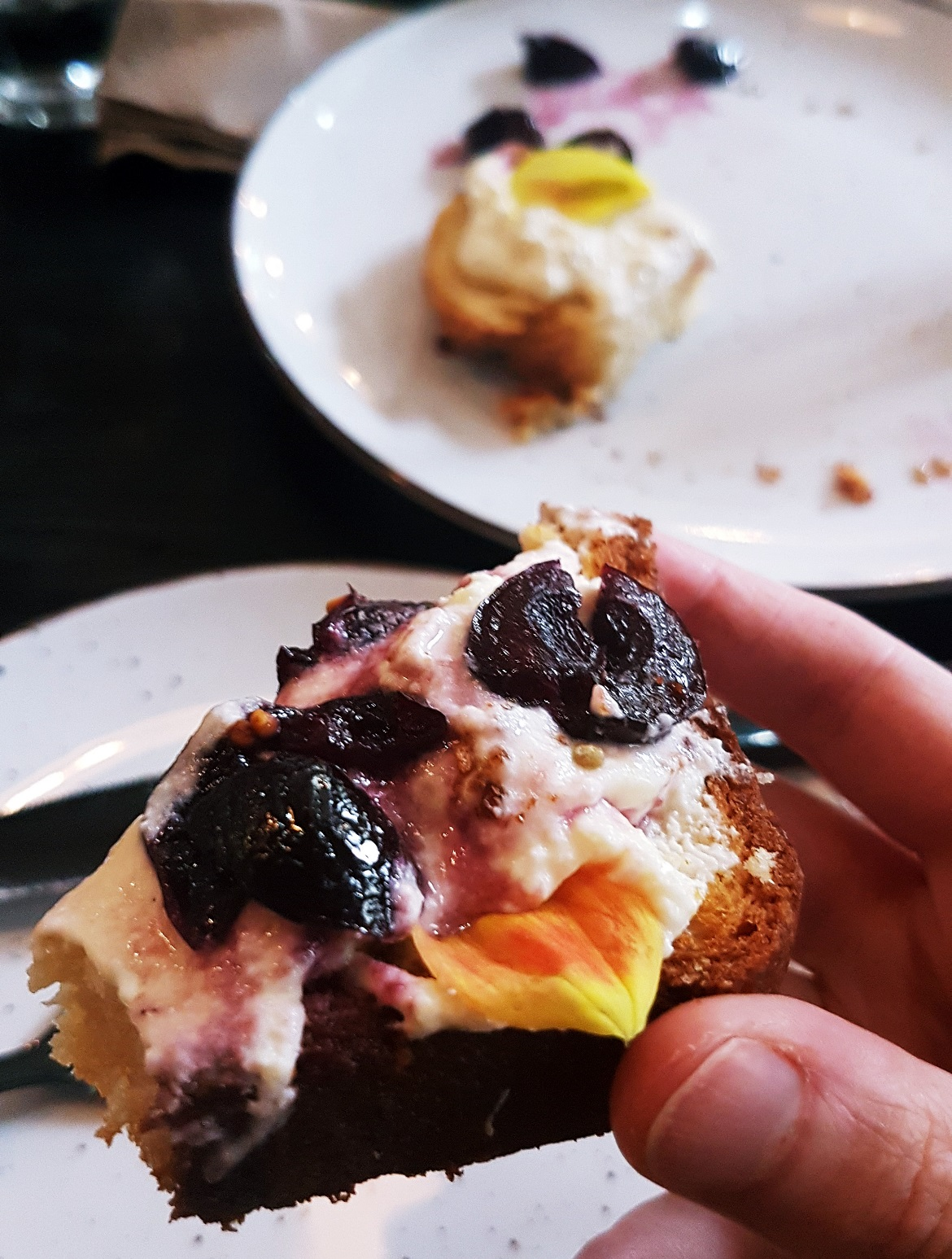 Vanilla cherries and ricotta on brioche - Review of North Star Coffee Shop by BeckyBecky Blogs
