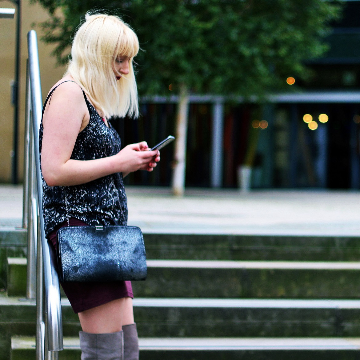 Blogger photoshoot at Leeds Dock of BeckyBecky Blogs by Laura Haley