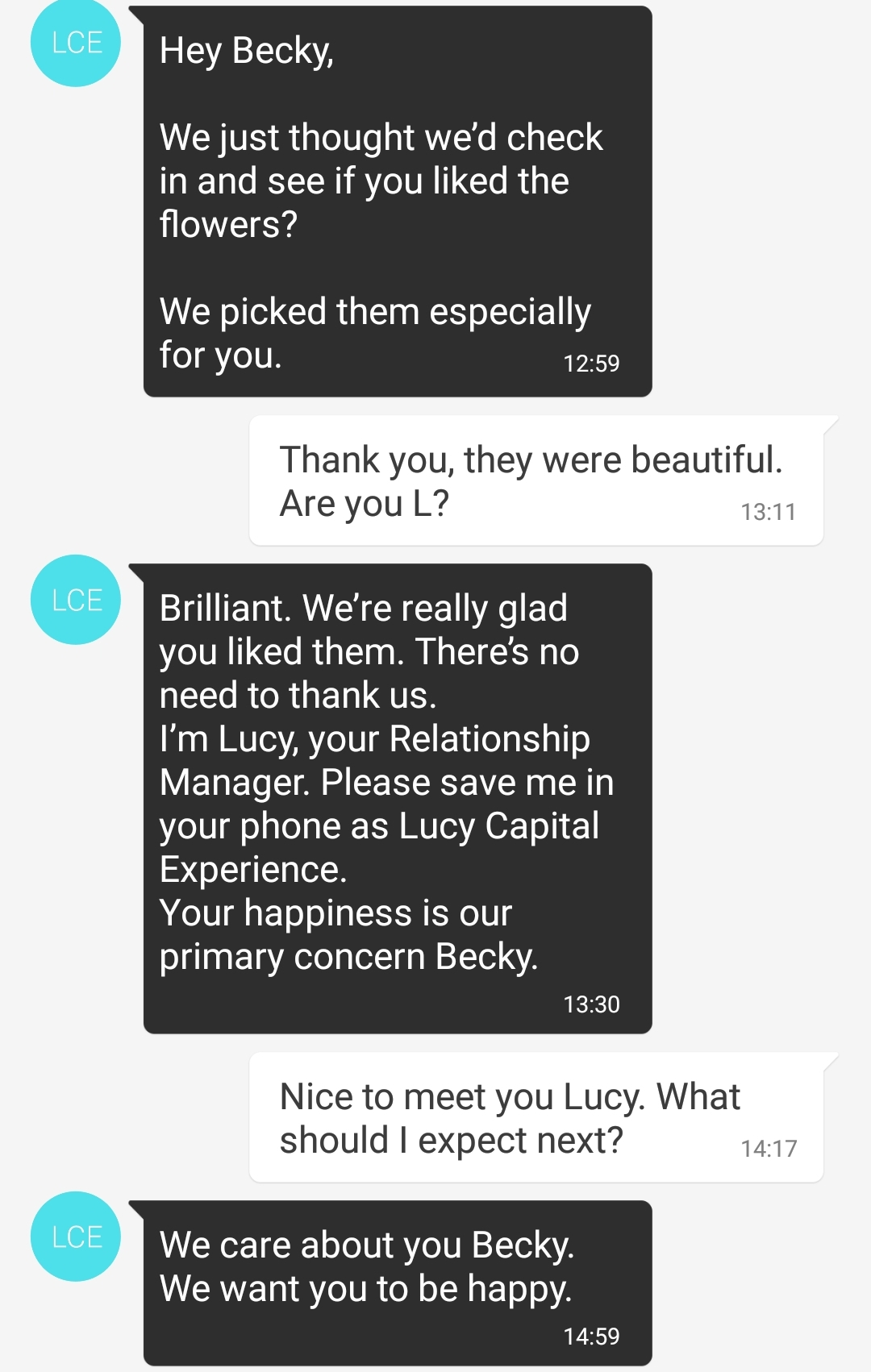 Texts from my Relationship Manager Lucy - The Lucky Ones, immersive theatre experience by Riptide Leeds, review by BeckyBecky Blogs