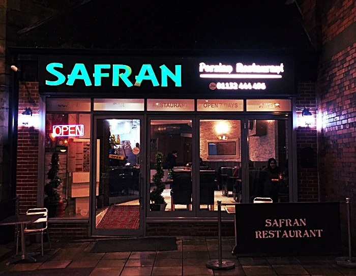 Safran Persian restaurant in Leeds