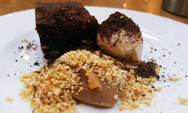 Chocolate brownie - Restaurant Review of Shears Yard, Leeds Restaurant Week menu by BeckyBecky Blogs