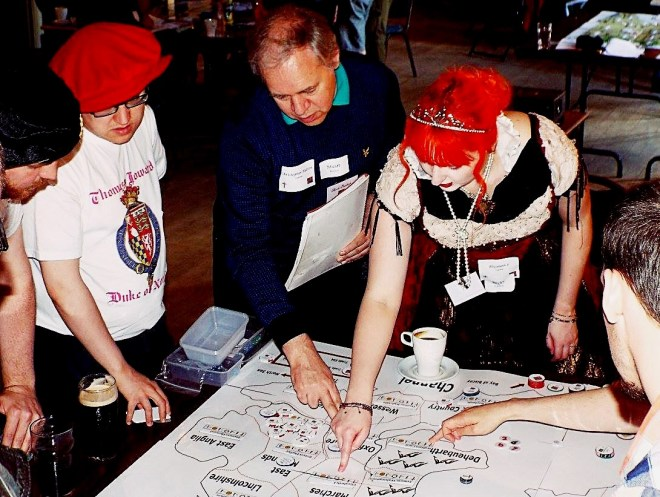 In mid flow at the Spanish Road Megagame - Three Years Megagaming by BeckyBecky Blogs