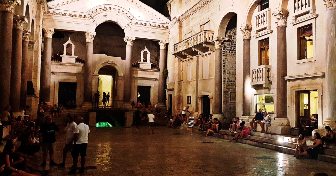 Diocletian's Palace in Split at night - Croatia in Photographs by BeckyBecky Blogs