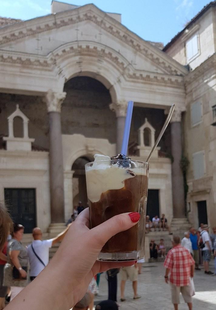 Iced coffee at Lvxor - Eating Split, Croatia Travel blog by BeckyBecky Blogs