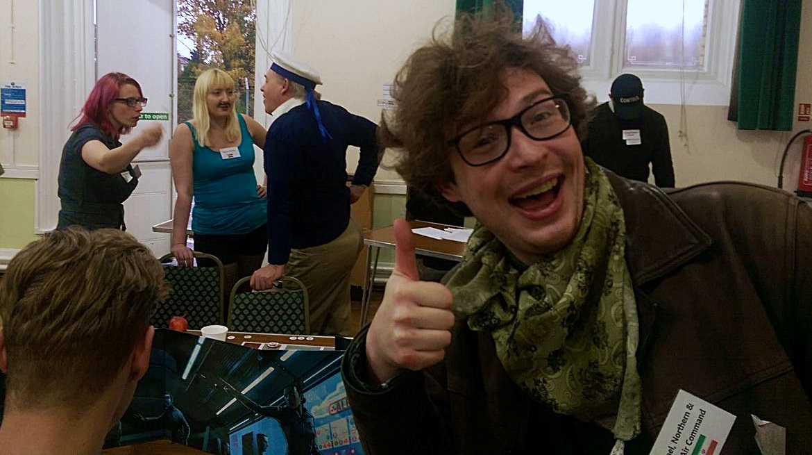 Telling Stuart off - Undeniable Victory Megagame After Action Report by BeckyBecky Blogs