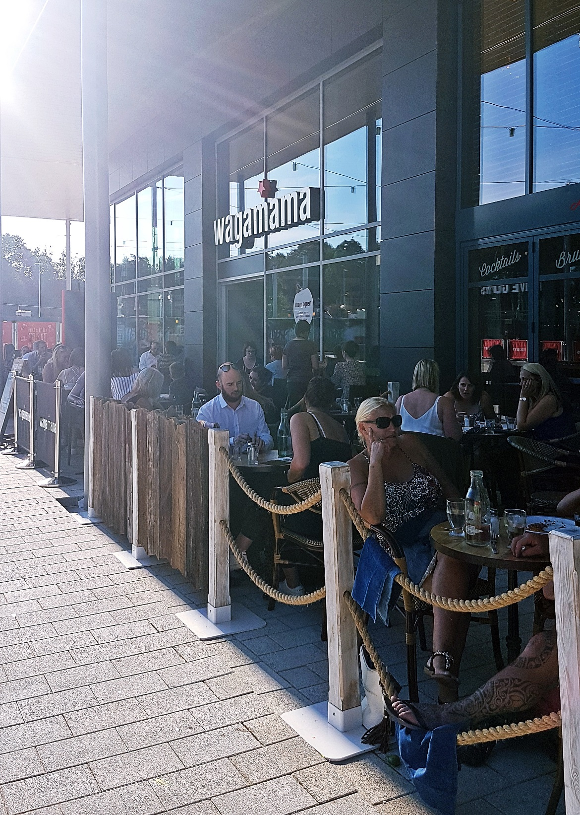 The exterior of Wagamama in the Village at White Rose Leeds - Wagamama Menu Pairing, Review by BeckyBecky Blogs